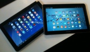 Two Samsung Galaxy Tabs