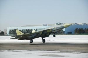 Sukhoi T-50 landing