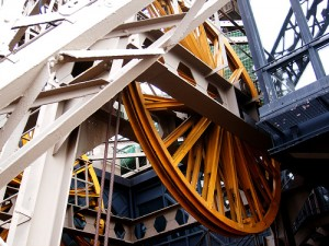 Tower Bridge lifting mechanism