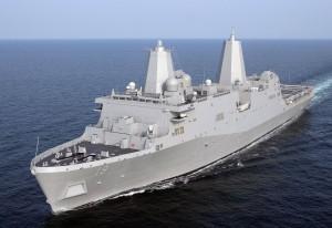 USS San Antonio stealth warship