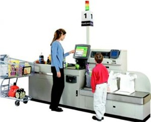 self service checkout machines