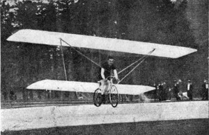 Gabriel Poulain flying bicycle
