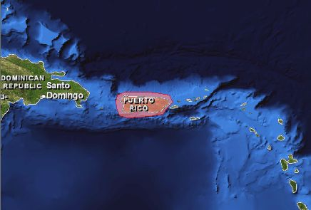 Puerto Rico Trench Location